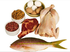 курица, рыба, яйца, мясо