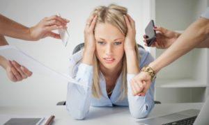 У девушки стресс