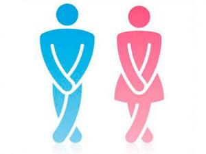 рисунок мужчина и женщина хотят в туалет