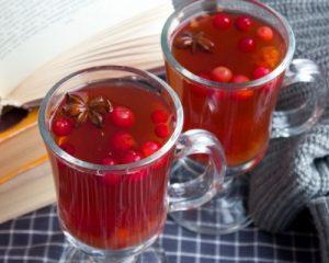 чай из клюквы