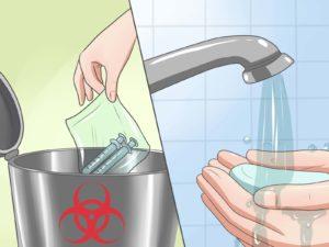 промывание мочеприемника