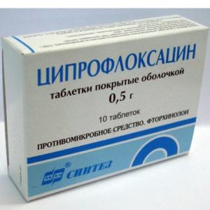 Антибиотики при воспалении почек в таблетках