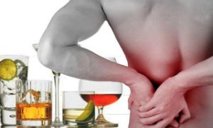 боль в почках из-за алкоголя