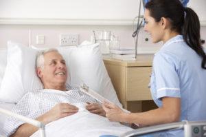 Пациент лежит в больнице
