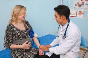 беременная на приеме