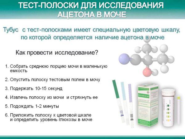 Тест полоски на кетоны в моче 5