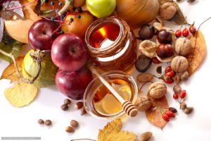 орехи яблока мед