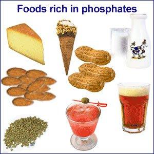 пища, содержащая фосфаты