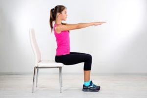 тренировка на стуле
