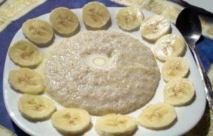 каша с бананом