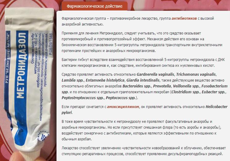 метронидазол фармакология
