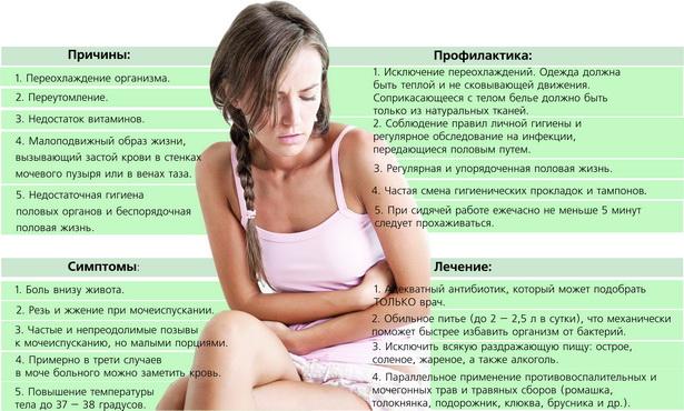 признаки лечение цистита
