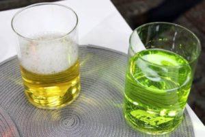 зеленая и желтая моча