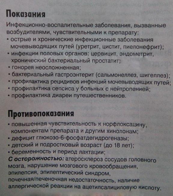 нолицин показания