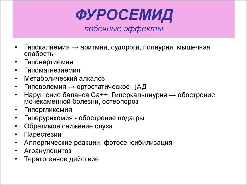 фуросемид побочные эффекты